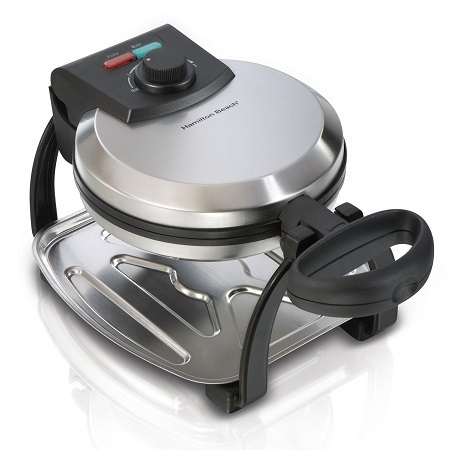 Hamilton Beach Flip Belgian Waffle Maker on White Background