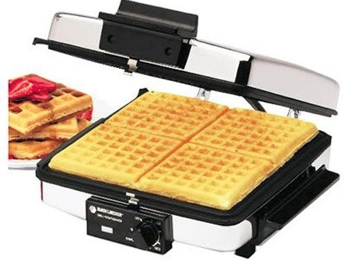 Black decker G48TD 3-in-1 waffel maker with waffels