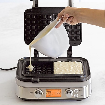 Making Waffles With Waffle Maker