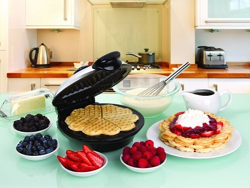 Heart Shaped Waffles And Waffle Maker