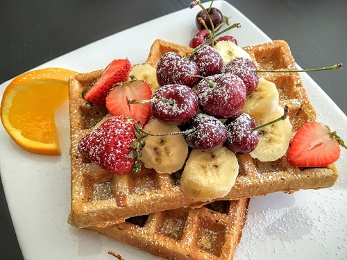 Waffles With Different Fruit
