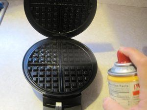 Image result for spray round waffle maker